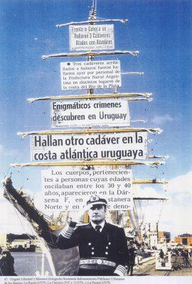 Sin título, de la serie Nunca más, 1995.  Collage 42 x 29,7 cm