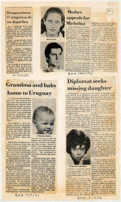 Nosotros no sabíamos, 1976 Recopilación de notas periodísticas sobre la represión. 35,5 x 21 cm