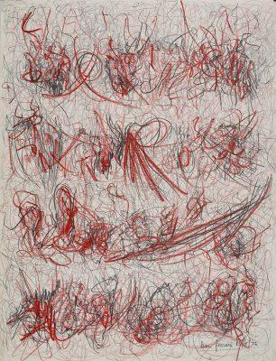 Sin título, 1976 Lápiz y cera sobre papel 65 x 50 cm